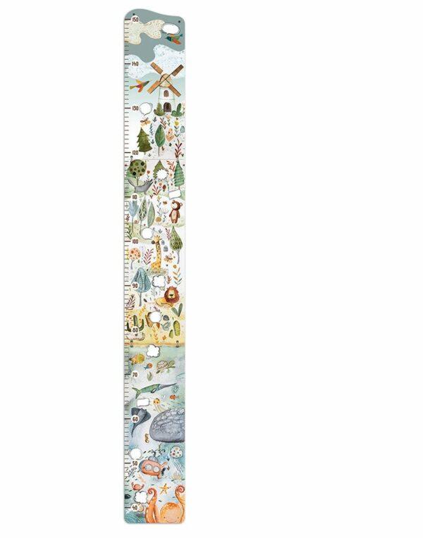 magasságmérő fehér háttérrel