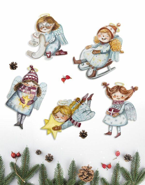angyalkás karácsonyfa dísz kollekció