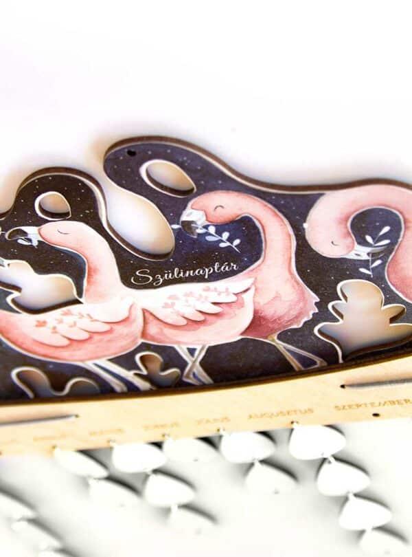 Flamingó naptár perspektivikus nézet
